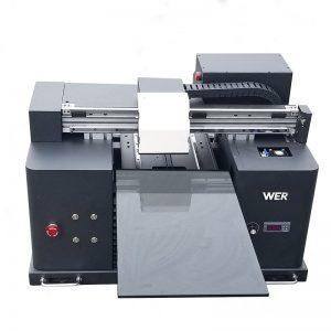 2018 เครื่องพิมพ์เลเซอร์แบบแบน UV in a4 dtg t เครื่องพิมพ์โลโก้สำหรับขาย WER-E1080T