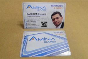 นามบัตรตัวอย่างธุรกิจจากเครื่องพิมพ์เดสก์ทอป uv -A2 ขนาด WER-D4880UV