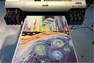 ตัวอย่างผ้าใบจากเครื่องพิมพ์ UV A2 WER-EH4880UV