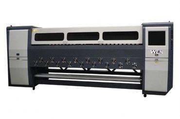 คุณภาพดี K3404I / K3408I เครื่องพิมพ์ตัวทำละลาย 3.4 ม. เครื่องพิมพ์อิงค์เจ็ทหนัก