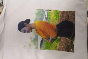 ตัวอย่างพิมพ์เสื้อยืดสำหรับลูกค้าพม่าจากเครื่องพิมพ์ WER-EP6090T