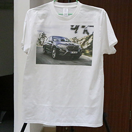 ตัวอย่างการพิมพ์เสื้อยืดสีขาวโดยเครื่องพิมพ์เสื้อยืด A3 WER-E2000T 2